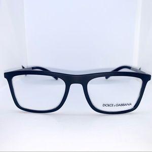 Dolce & Gabbana Black Rubber Eyeglasses